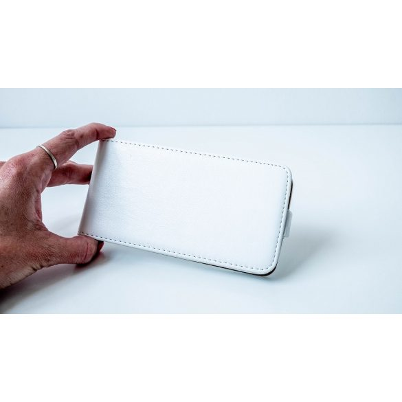 Asus Zenfone 2 Laser ZE550KL, Forcell lenyitható bőrtok, Slim Flexi, felfelé nyíló - kinyitható, fehér
