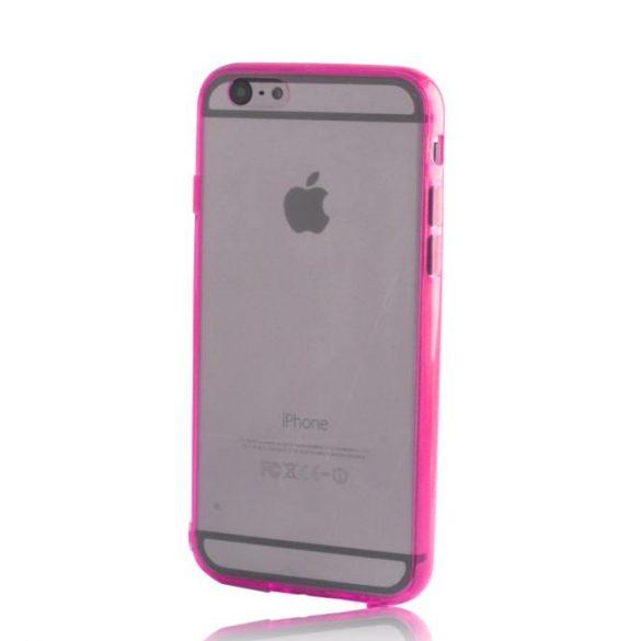 Samsung Galaxy S5 SM-G900, Műanyag hátlap védőtok + szilikon védőkeret, Outline, pink