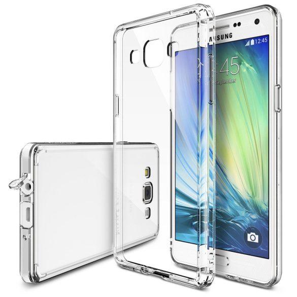 Huawei Y6 II, Műanyag hátlap védőtok + szilikon védőkeret, Outline, áttetsző