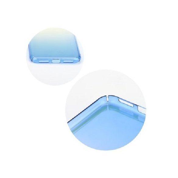 Samsung Galaxy J4 (2018) SM-J400F, Műanyag hátlap védőtok, színváltós, tükröződő, Forcell BlueRay, átlátszó/színes