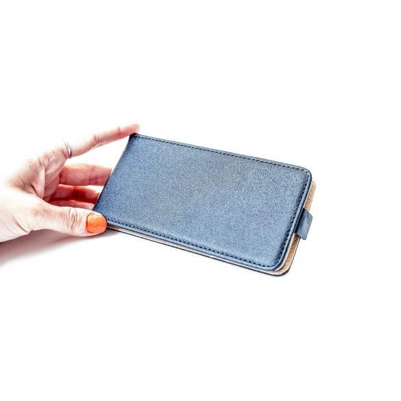 Samsung Galaxy M30 SM-M305F, Forcell lenyitható bőrtok, Slim Flexi, felfelé nyíló - kinyitható, fekete