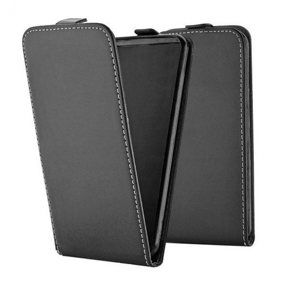 Samsung Galaxy Note 10 / 10 5G SM-N970 / N971, Forcell lenyitható bőrtok, Slim Flexi, felfelé nyíló - kinyitható, fekete
