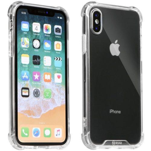 Apple iPhone 11 Pro Max, Szilikon védőkeret, akril hátlap, közepesen ütésálló, Armor Jelly Case, Roar, átlátszó