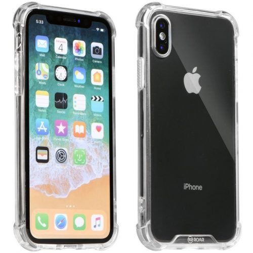 Samsung Galaxy S20 Plus / S20 Plus 5G SM-G985 / G986, Szilikon védőkeret, akril hátlap, közepesen ütésálló, Armor Jelly Case, Roar, átlátszó