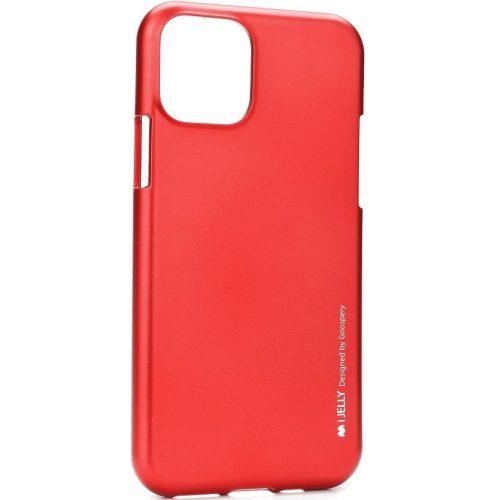 Apple iPhone 11 Pro Max, Szilikon tok, Mercury i-Jelly, matt hatású, piros