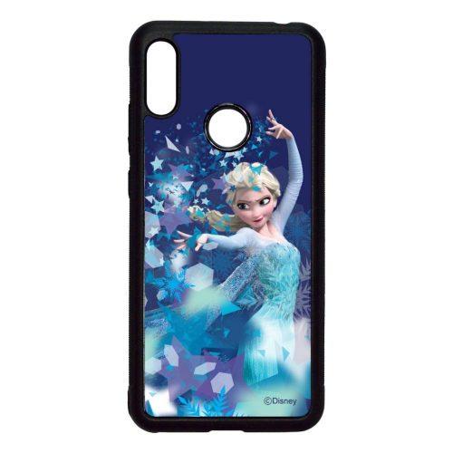 Disney Elsa - Legyen hó - Huawei Y6 2019 fekete szilikon tok
