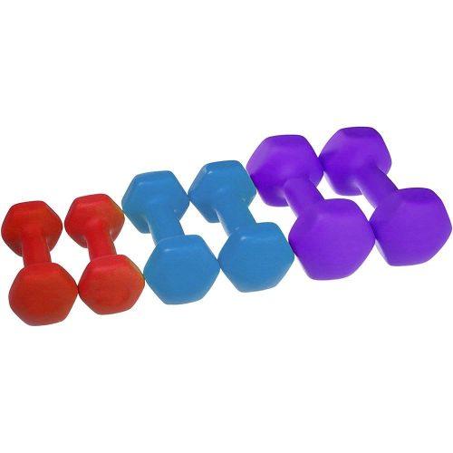 6 db-os kézi súlyzó szett
