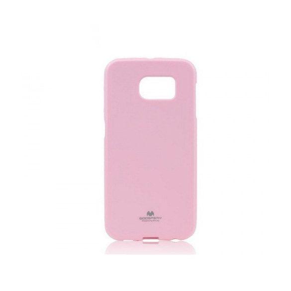 LG K8, TPU szilikon tok, Mercury Goospery, csillámporos, pink