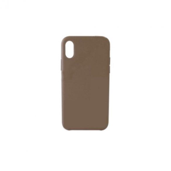 Apple iPhone 7 Plus / 8 Plus, Műanyag hátlap védőtok, bőrbevonattal, gyári jellegű, bézs