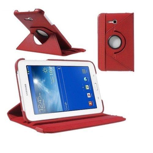 Samsung Galaxy Tab 3 Lite 7.0 SM-T110, mappa tok, elforgatható (360°), piros