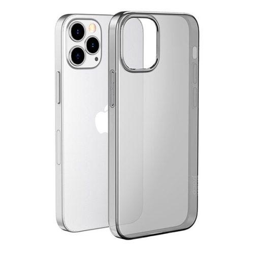 Apple iPhone 12 Pro Max, Szilikon tok, ultravékony, Hoco Light, átlátszó/füst