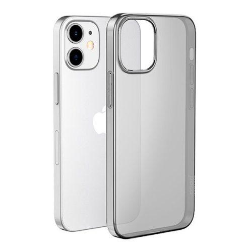Apple iPhone 12 Mini, Szilikon tok, ultravékony, Hoco Light, átlátszó/füst