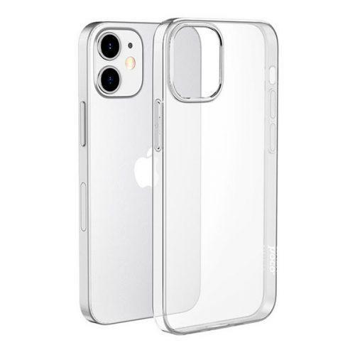 Apple iPhone 12 Mini, Szilikon tok, ultravékony, Hoco Light, átlátszó