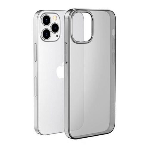 Apple iPhone 12 / 12 Pro, Szilikon tok, ultravékony, Hoco Light, átlátszó/füst
