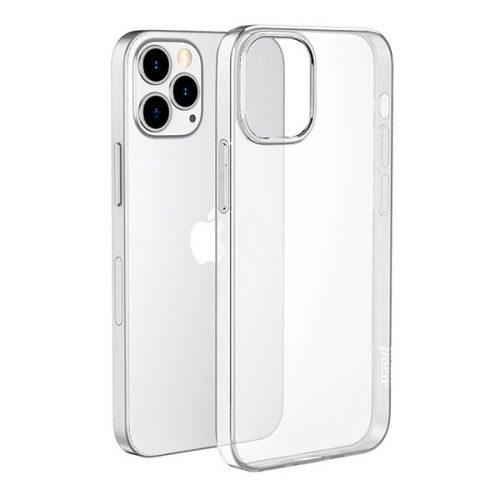 Apple iPhone 12 Pro Max, Szilikon tok, ultravékony, Hoco Light, átlátszó