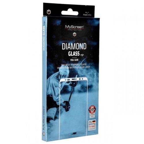 Apple iPhone 12 / 12 Pro, Kijelzővédő fólia, ütésálló fólia (az íves részre is!), MyScreen Protector, Diamond Glass (Edzett gyémántüveg), Full Glue, fekete