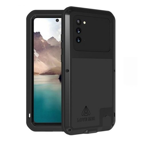 Samsung Galaxy Note 20 / 20 5G SM-N980 / N981, Szilikon tok, Love Mei Defender, ütésálló, fekete