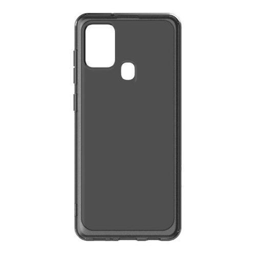 Samsung Galaxy A21 SM-A210F, Szilikon tok, közepesen ütésálló, légpárnás sarok, fekete, gyári