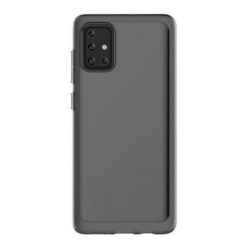Samsung Galaxy A71 SM-A715F, Műanyag hátlap védőtok, szilikon belsővel, fekete, gyári