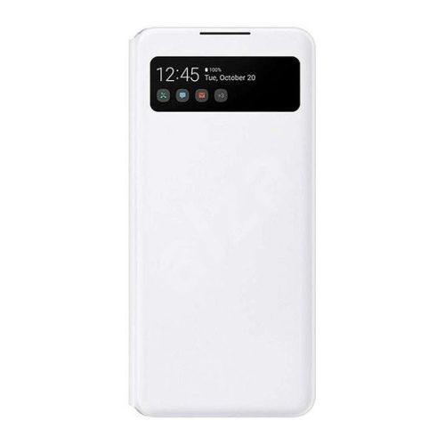 Samsung Galaxy A42 5G SM-A426B, Oldalra nyíló tok, hívás mutatóval, Smart View Cover, fehér, gyári