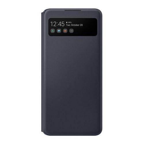 Samsung Galaxy A42 5G SM-A426B, Oldalra nyíló tok, hívás mutatóval, Smart View Cover, fekete, gyári