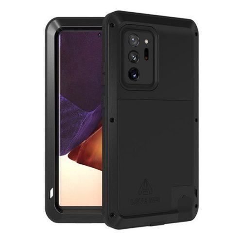 Samsung Galaxy Note 20 Ultra / 20 Ultra 5G SM-N985 / N986, Szilikon tok, Love Mei Defender, ütésálló, fekete