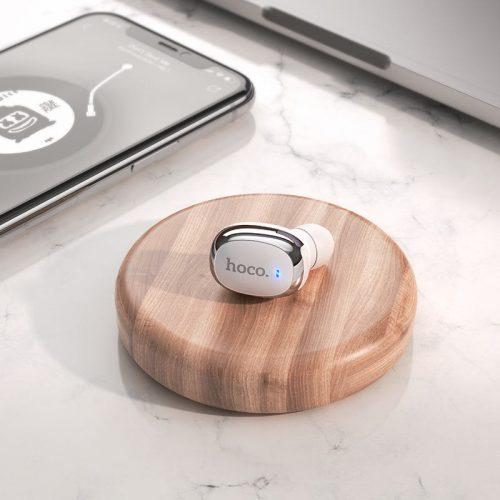Bluetooth fülhallgató, v5.0, TWS, Hoco E54 Mia Mini, fehér