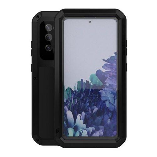 Samsung Galaxy S20 FE / S20 FE 5G SM-G780 / G781, Szilikon tok, Love Mei Powerful Defender, ütésálló, fekete