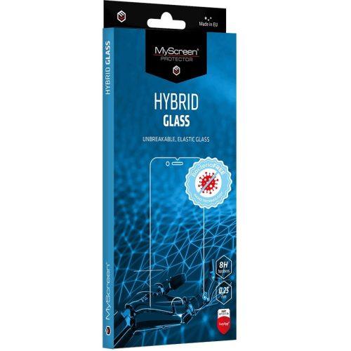 Huawei P Smart (2021) / Honor 10X Lite, Kijelzővédő fólia, ütésálló fólia (az íves részre NEM hajlik rá!), MyScreen Protector, Hybridglass Antibacterial, Tempered Glass (edzett üveg), Clear