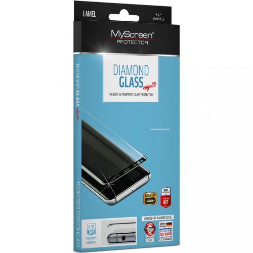 Samsung Galaxy S21 5G SM-G991, Kijelzővédő fólia, ütésálló fólia (az íves részre is!), MyScreen Protector, Diamond Glass (Edzett gyémántüveg), 3D Full Cover, fekete