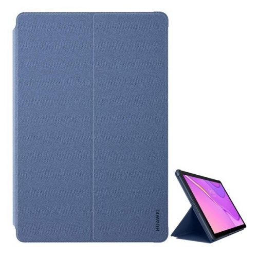 Huawei MatePad T10 (9.7) / T10s (10.1), mappa tok, stand, szövet minta, kék, gyári