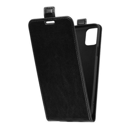 LG K42, Forcell lenyitható bőrtok, Slim Flexi, felfelé nyíló - kinyitható, fekete