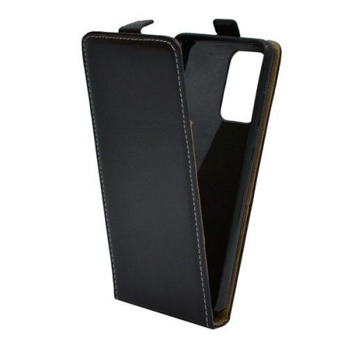 Samsung Galaxy A52 / A52 5G SM-A525F / A526B, Forcell lenyitható bőrtok, Slim Flexi, felfelé nyíló - kinyitható, fekete