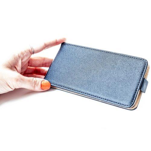 Samsung Galaxy A72 / A72 5G SM-A725F / A726B, Forcell lenyitható bőrtok, Slim Flexi, felfelé nyíló - kinyitható, fekete