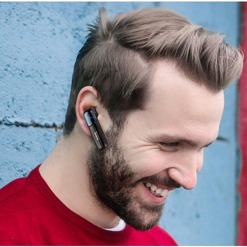 Bluetooth fülhallgató, v5.0, Multipoint, Hoco E57 Essential, fehér