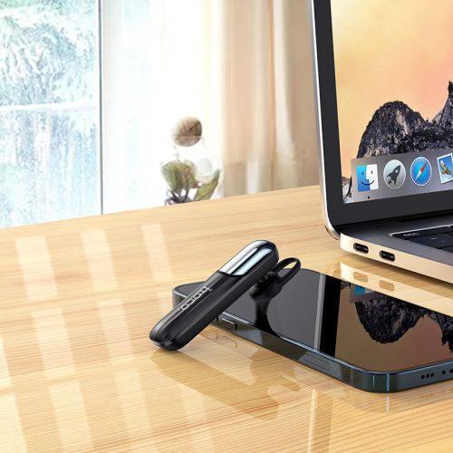 Bluetooth fülhallgató, v5.0, Multipoint, Hoco E57 Essential, fekete