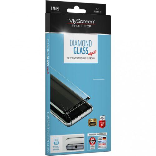 Huawei Mate 40 Pro / 40 Pro Plus, Kijelzővédő fólia, ütésálló fólia (az íves részre is!), MyScreen Protector, Diamond Glass (Edzett gyémántüveg), 3D Full Cover, fekete