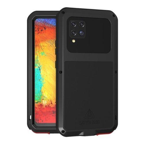 Samsung Galaxy A42 5G SM-A426B, Szilikon tok, Love Mei Defender, ütésálló, fekete