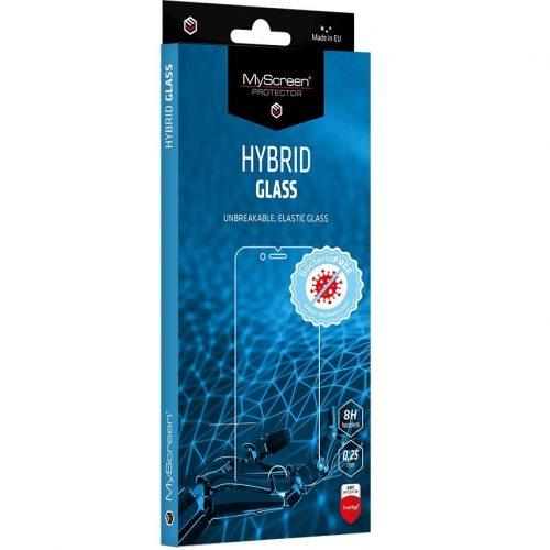 Samsung Galaxy S21 5G SM-G991, Kijelzővédő fólia, ütésálló fólia (az íves részre NEM hajlik rá!), MyScreen Protector, Hybridglass Antibacterial, Tempered Glass (edzett üveg), Clear