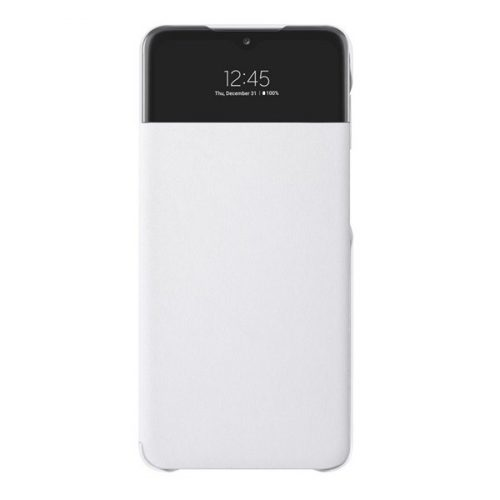 Samsung Galaxy A32 5G SM-A326B, Oldalra nyíló tok, hívás mutatóval, Smart View Cover, fehér, gyári
