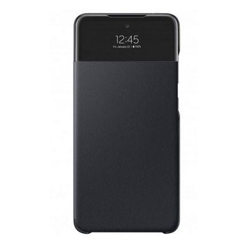 Samsung Galaxy A32 4G SM-A325F, Oldalra nyíló tok, hívás mutatóval, Smart View Cover, fekete, gyári