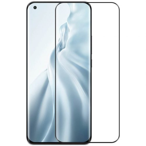 Xiaomi Mi 11 / 11 Pro / 11 Ultra Kijelzővédő fólia, ütésálló fólia (az íves részre is!), Tempered Glass (edzett üveg), Nillkin, DS+ MAX, fekete