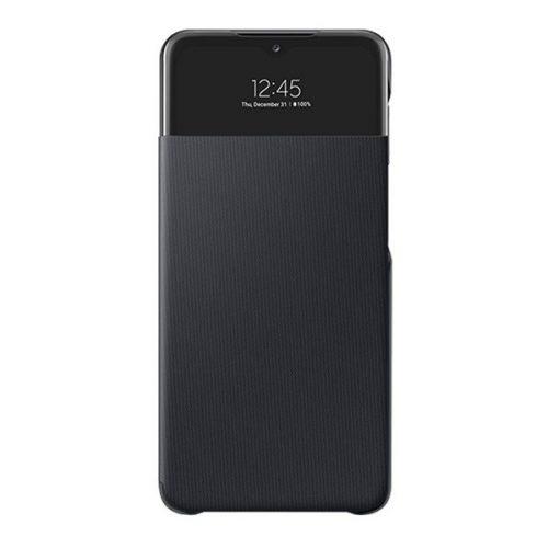 Samsung Galaxy A32 5G SM-A326B, Oldalra nyíló tok, hívás mutatóval, Smart View Cover, fekete, gyári