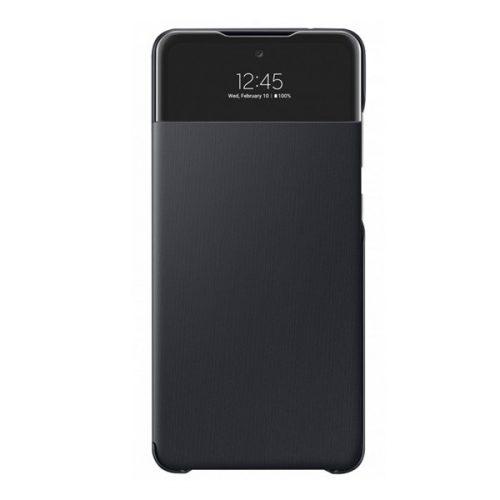 Samsung Galaxy A72 / A72 5G SM-A725F / A726B, Oldalra nyíló tok, hívás mutatóval, Smart View Cover, fekete, gyári