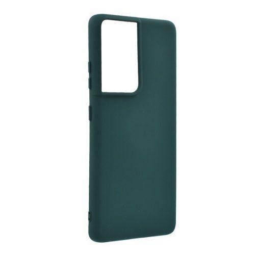 Samsung Galaxy S21 Ultra 5G SM-G998, Szilikon tok, sötétzöld