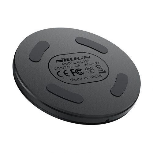Univerzális vezeték nélküli töltő állomás, Qi Wireless, 5V/2A, Nillkin Mini Button, fekete