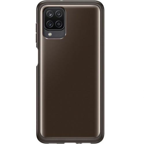 Samsung Galaxy A12 SM-A125F, Szilikon tok, fekete, gyári
