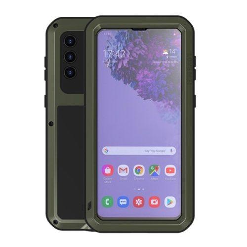 Samsung Galaxy S21 Plus 5G SM-G996, Szilikon tok, Love Mei Powerful Defender, ütésálló, sötétzöld