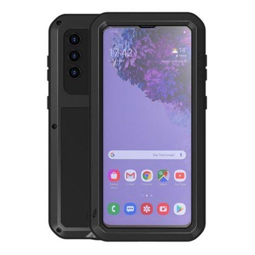 Samsung Galaxy S21 Plus 5G SM-G996, Szilikon tok, Love Mei Powerful Defender, ütésálló, fekete