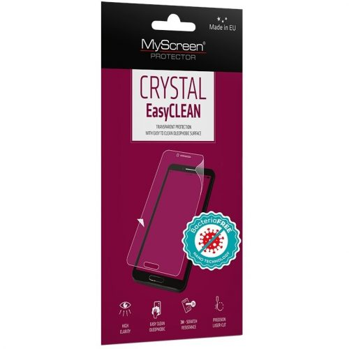 Samsung Galaxy A52 / A52 5G SM-A525F / A526B, Kijelzővédő fólia (az íves részre NEM hajlik rá!), MyScreen Protector Antibacterial, Clear Prémium